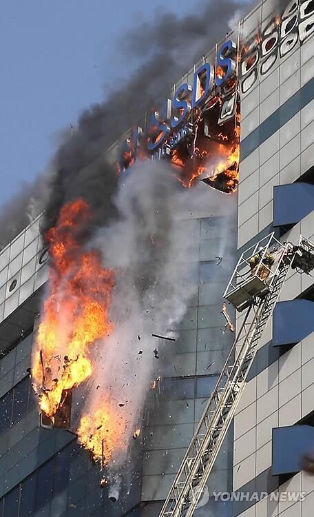 三星数据中心火灾现场