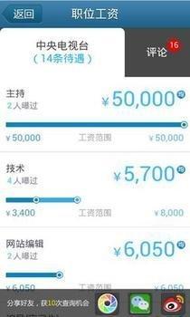 """""""曝工资应用""""走红 可提供1000万条工资信息"""